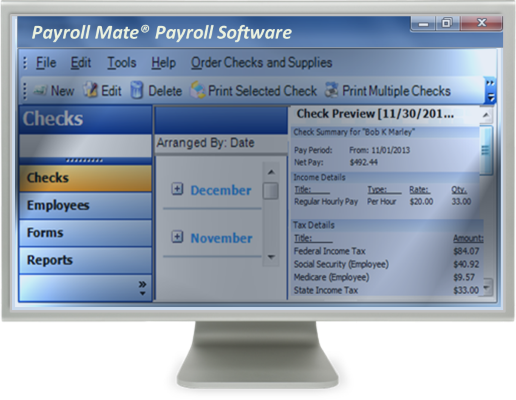 Payroll Mate main window